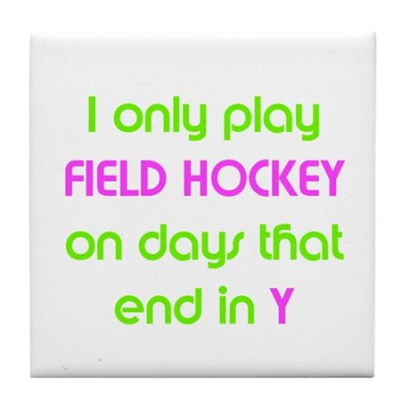 SportChick's HockeyChick Days Tile Coaster