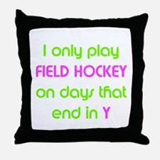 SportChick's HockeyChick Days Throw Pillow