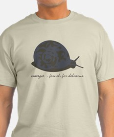 Escargot - French for delicious - Light Tee