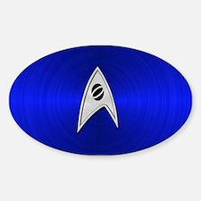STARTREK TOS SCI METAL 2 Sticker (Oval)