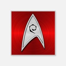 "STARTREK TOS OPS METAL 2 Square Sticker 3"" x 3"""