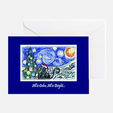 Starry Night Kitty Christmas Card