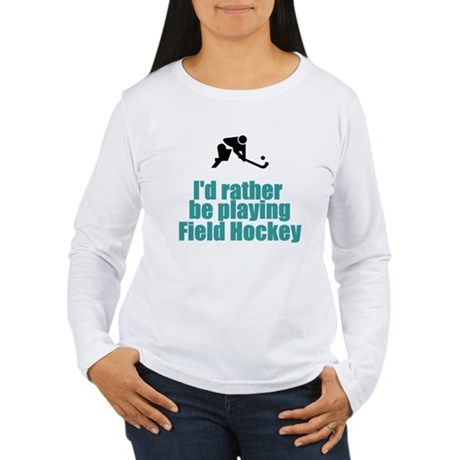 SportChick's HockeyChick Rather Women's Long Sleev