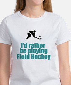 SportChick's HockeyChick Rather Tee