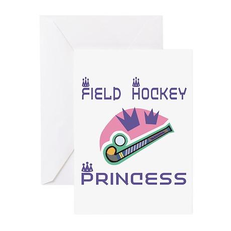 SportChick's HockeyChick Princess Greeting Cards (