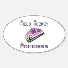 SportChick's HockeyChick Princess Oval Decal