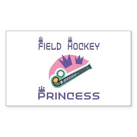 SportChick's HockeyChick Princess Sticker (Rectang