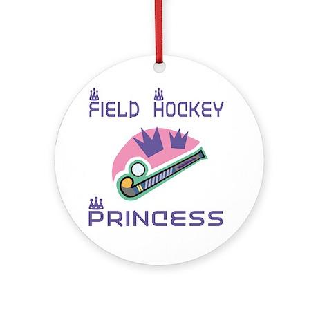 SportChick's HockeyChick Princess Ornament (Round)