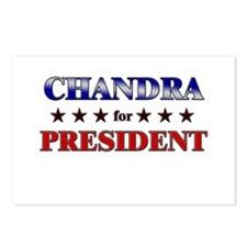 CHANDRA for president Postcards (Package of 8)