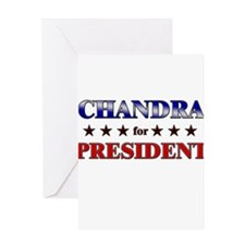 CHANDRA for president Greeting Card
