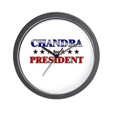 CHANDRA for president Wall Clock