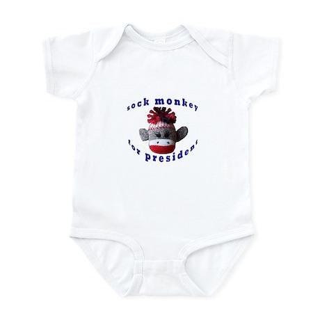 Sock Monkey for President Infant Bodysuit