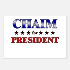 CHAIM for president Postcards (Package of 8)