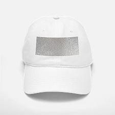 metalic pearl silver glitter Baseball Baseball Cap