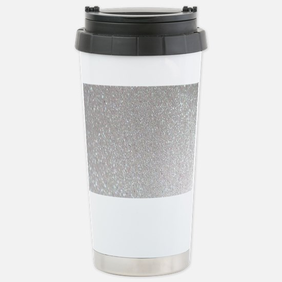 metalic pearl silver gl Stainless Steel Travel Mug
