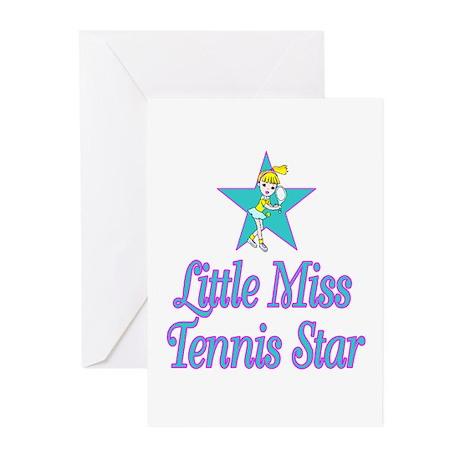 SportChick TennisChick Star Greeting Cards (Pk of