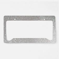 metalic pearl silver glitter License Plate Holder