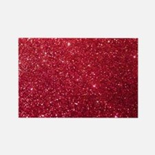 Girly Chic Red Glitter Magnets