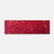 Girly Chic Red Glitter Car Magnet 10 x 3