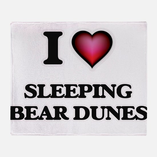 I love Sleeping Bear Dunes Michigan Throw Blanket