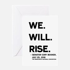 We. Will. Rise. Greeting Cards