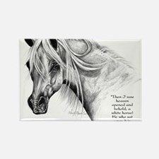 Cool Arabian horse art Rectangle Magnet