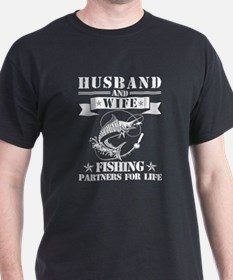 Husband And Wife Fishing Partners For Life T-Shirt