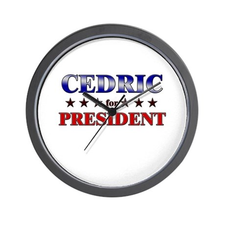 CEDRIC for president Wall Clock