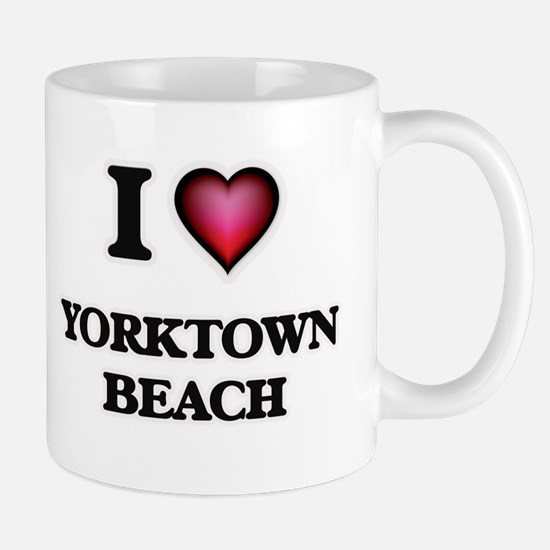 I love Yorktown Beach Virginia Mugs