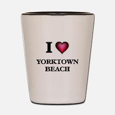 I love Yorktown Beach Virginia Shot Glass