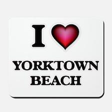 I love Yorktown Beach Virginia Mousepad