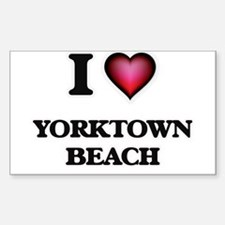 I love Yorktown Beach Virginia Decal
