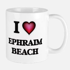 I love Ephraim Beach Wisconsin Mugs
