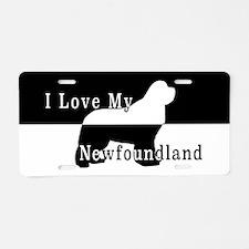 Newfoundland rescue Aluminum License Plate