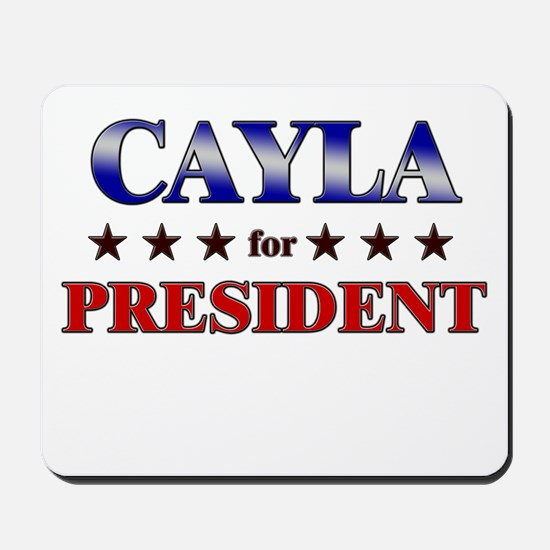 CAYLA for president Mousepad