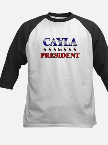 CAYLA for president Kids Baseball Jersey