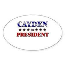 CAYDEN for president Oval Decal
