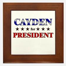 CAYDEN for president Framed Tile