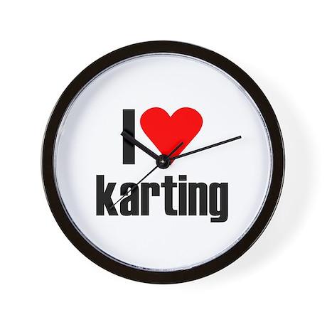I love karting Wall Clock