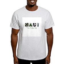 Maui Valley Isle Ash Grey T-Shirt