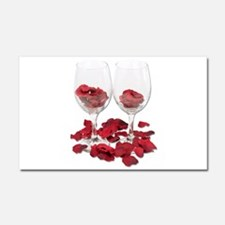 WineGlassRosePedals.png Car Magnet 20 x 12
