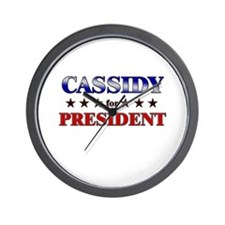 CASSIDY for president Wall Clock