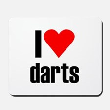 I love darts Mousepad