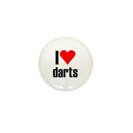 I love darts Mini Button