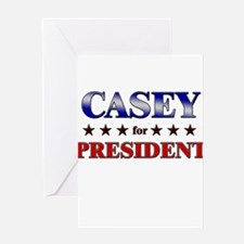CASEY for president Greeting Card
