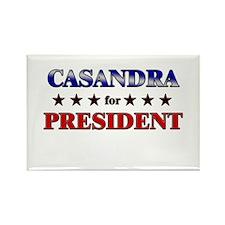 CASANDRA for president Rectangle Magnet