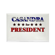 CASANDRA for president Rectangle Magnet (10 pack)