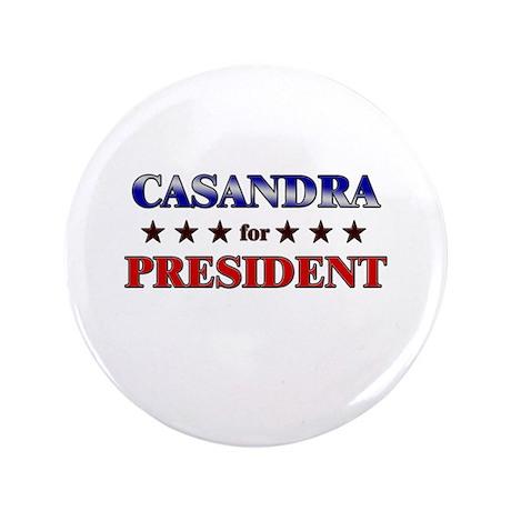 "CASANDRA for president 3.5"" Button"
