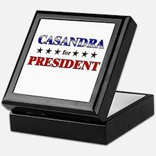 CASANDRA for president Keepsake Box