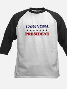 CASANDRA for president Kids Baseball Jersey